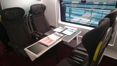 Business Premier seating on the new Eurostar e320