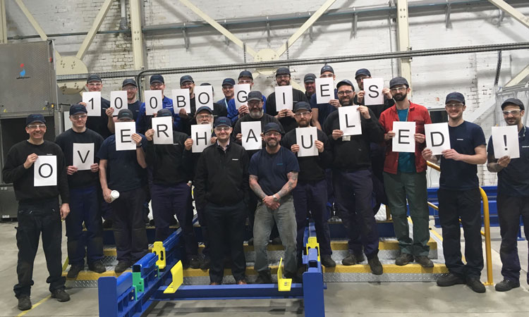 The new Siemens Bogie Service Centre has completed 100th bogie