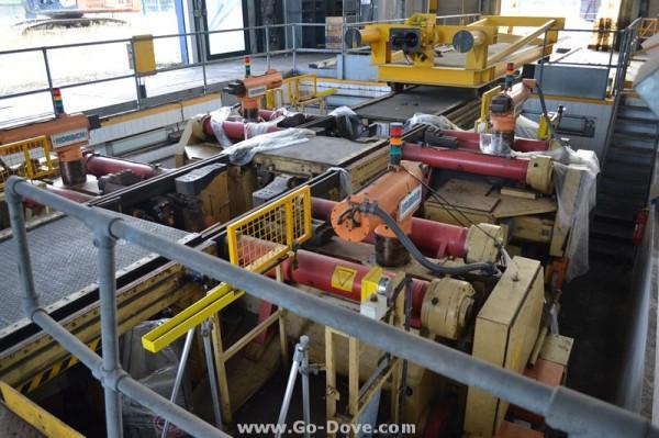Hoesch Double Underfloor CNC Wheel Lathe & Windoff Bogie Drop Platform