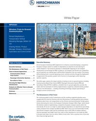 Whitepaper: Wireless train-to-ground communication