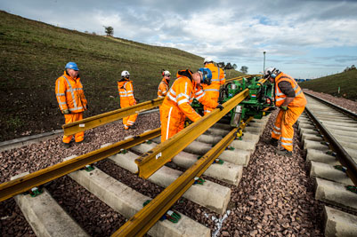 Borders Railway on course for completion as main track-laying begins
