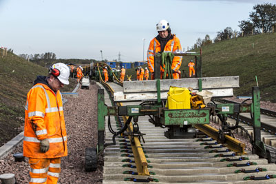 Final phase of Borders Railway track-laying gets underway