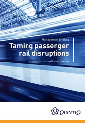 Briefing:Taming passenger rail disruptions