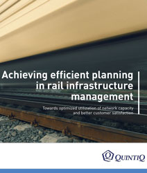 Brochure: Achieving efficient planning in rail infrastructure management