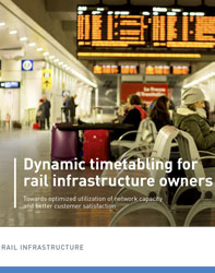 Brochure: Dynamic timetabling for rail infrastructure owners