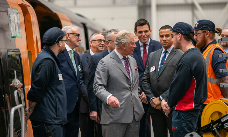 The CAF factory was declared open by His Royal Highness The Prince of Wales