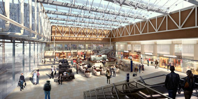 Network Rail unveils redesign for The Lawn at Paddington Station