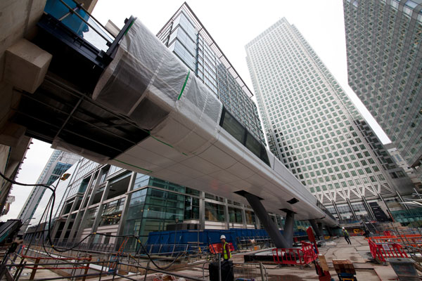 Canary Wharf Crossrail Station September 2013