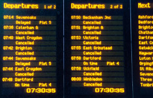 Cancelled Train List