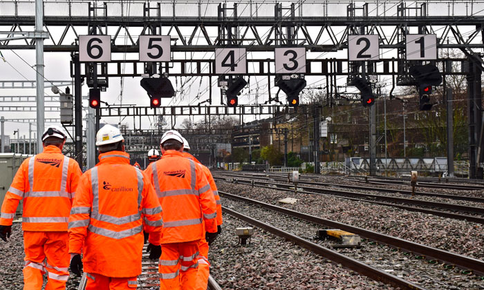 Carillion rail contracts acquired by Amey Rail Limited