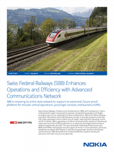 Cover-Swiss Federal Railways (SBB) Enhances Operations and Efficiency with Advanced Communications Network-1