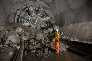 Crossrail tunnelling machine breakthrough at Liverpool Street