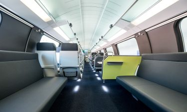 Interior of new Deutsche Bahn intercity trains
