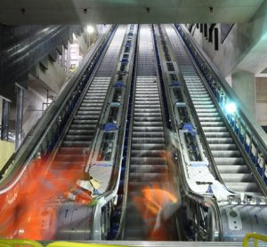 Over 1.5 kilometres of escalators have now been installed at Elizabeth line stations
