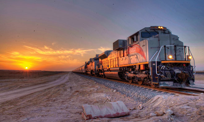 Etihad Rail cargo train united arab emirates uae