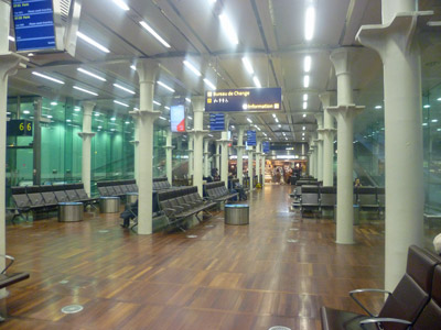 Eurostar Departure-area-at-St-Pancras