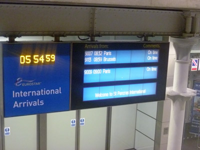 Eurostar-arrivals-(on-time)-at-St-Pancras