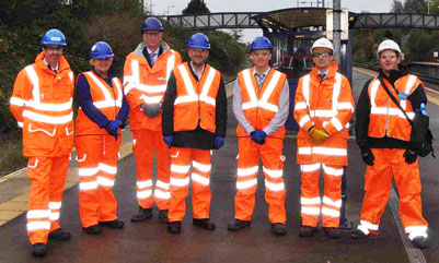 Filton Four Tracks - members of the Bristol stations railway doubling project team and partner agencies