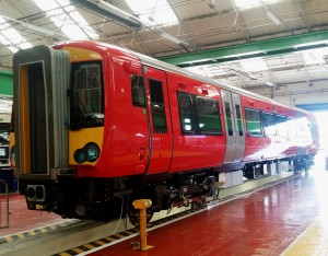First carriage of new Gatwick Express train undergoes testing