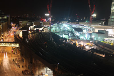 First rails arrive at Borough Viaduct for London Bridge Thameslink Programme