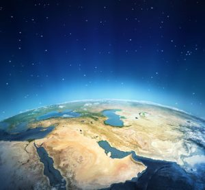 The Middle East as seen from above