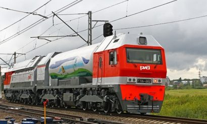 Russian Railways GTh1 Main Gas Turbine Locomotive enters service