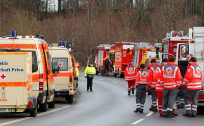 German train crash leaves four dead and numerous injured