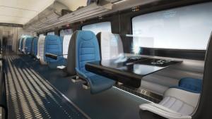 Hitachi Rail Europe conceptual high speed train interior