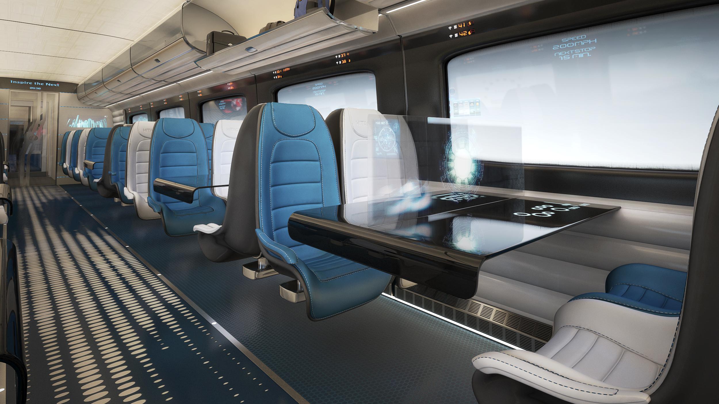 Cabin Bathroom Designs Hitachi Rail Europe Reveals New High Speed Train Interior