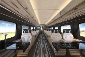 Hitachi Rail Europe conceptual high speed train interior FirstClass
