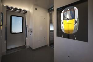 Hitachi Rail Europe conceptual high speed train interior Gangway