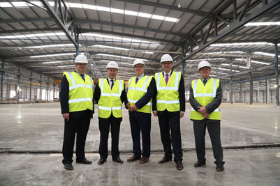 Hitachi Rail Europe topping out of Newton Aycliffe factory