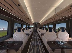 Hitachi presents 3D film footage of conceptual high-speed train