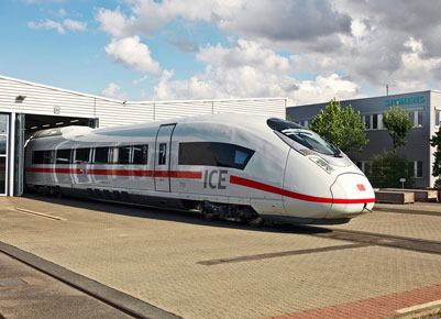 ICE trainsets from Siemens for Deutsche Bahn (DB)