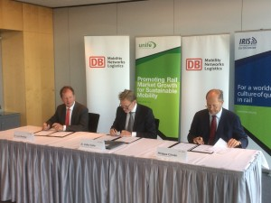 Deutsche Bahn and UNIFE sign a MoU on IRIS
