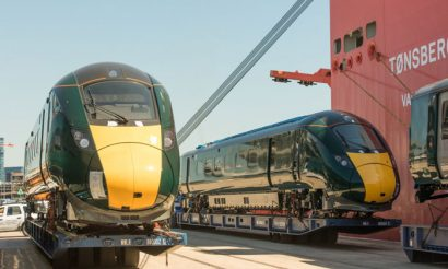 New Intercity Express Train arrives in the UK from Japan