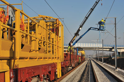 Approximately 3,024km of the 3,592km of rail lines on the Belgian network are electrified