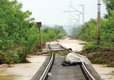 Serbia Railways Flooding