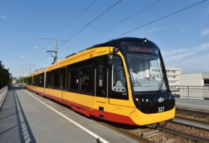 The approval, in accordance with German Regulations Governing the Construction and Operation of Railways (EBO), was passed on the 19 June 2015 by the Federal Railway Agency for operation, not only on the Karlsruhe Light Rail Transit Systems (BOStrab), but also the regional railway tracks of lines S1 and S11 of the Karlsruher Verkehrsverbund – Karlsruhe Transport Authority. The vehicles have been gradually delivered and put into service on BOStrab since May 2014. Previous to the introduction, the trains were thoroughly tested in the factory of the vehicle manufacturer in Valencia and by operator Verkehrsbetriebe Karlsruhe GmbH (VBK). Approval was granted by Innotrans in Berlin four months after delivery of the first vehicle to the Karlsruhe transport company. At present, the new low-floor vehicles operate daily on the urban tramway lines in Karlsruhe. Approval has now been granted for the LRVs to operate on the regional lines S1/S11 between Hochstetten and Bad Herrenalb / Ittersbach. The NET 2012 series can be changed from being a flexible light rail vehicle to a fast regional train reaching speeds of up to 80 km/h without passengers changing mode of transport. The Citylink NET 2012 is a barrier-free, low-floor light rail vehicle, which has been adapted to the infrastructure of Karlsruhe and the special requirements needed for railway operation out of the city. Despite their suitability for regional operation the vehicles have low-floor boarding areas, operating at a 340 mm platform height, which means that the passengers can board and alight at tramway level. Currently, 15 Citylink NET 2012 vehicles operate in Karlsruhe with a further 35 due for delivery by summer 2017.