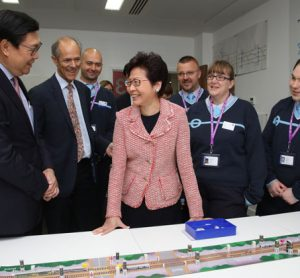 Hong Kong Chief Executive Mrs Carrie Lam Visits MTR Crossrail in London