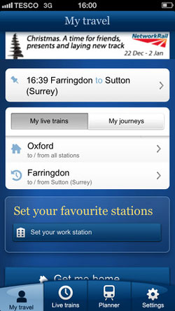 National Rail Enquiries Mobile App