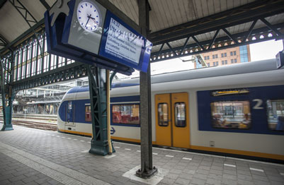Netherlands Railways (NS) Sprinter Train at Platform