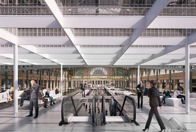 New mainline departure hub Gare du Nord