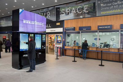 Northern Rail introduces station Smart Wall