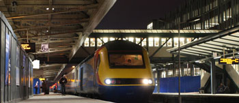 The first train leaves Nottingham station
