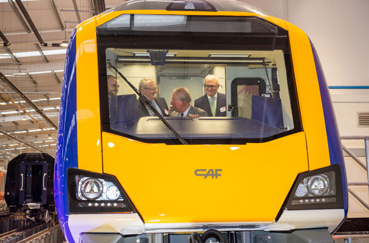 The Prince of Wales officially opened CAF's state-of-the-art manufacturing facility