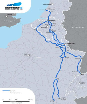 Rail Freight Corridor 2: a European rail transport route