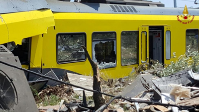 Head-on rail collision in southern Italy