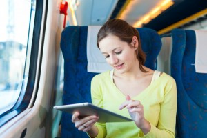 Rail passengers spend half their journey time online