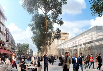 Redevelopment of Gare du Nord forecourt